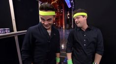 lol lets get ready to rhumble haha - Ant and Dec doing funkasize on Britain's got talent 2013