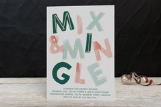 Mix and Mingle Foil-pressed Party Invitation by Baumbirdy at minted.com