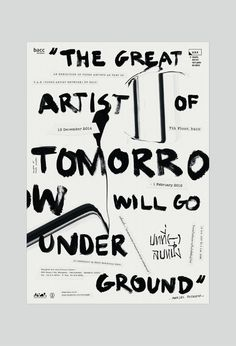 (-)1: 'The great artist of tomorrow will go underground' – Marcel Duchamp, activities in the exhibition space for young artists. The concept idea presents the standpoint of the 'underground' through punk style. by Manita Songserm