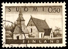 Stamp for sale Portugal 1963 Anniv of T. Finland Flag, Stamp Catalogue, Interesting Buildings, Small Words, 12th Century, Stamp Collecting, Helsinki, Postage Stamps, Europe