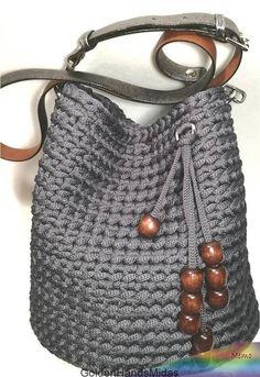 Crochet Handbags, Crochet Purses, Crochet Stitches, Crochet Patterns, Bag Pattern Free, Diy Crochet, Crochet Ideas, Crochet Projects, Knitted Bags