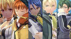 The Legend of Heroes: Trails of Cold Steel III details Alisa, Elliot, Laura, Jusis, and Machias