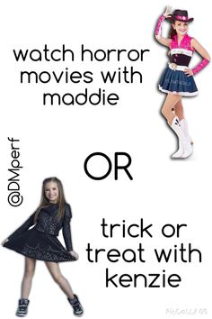 That's a tough one.... Doing a lot of these Comment below. AOTD: Trick-or-treat with Kenzie