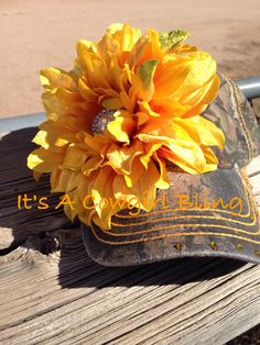 Camo hat w/flower and rhinestones $15.00