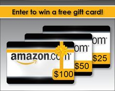 Enter to Win one of Three Amazon Gift Cards!