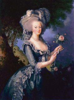 Marie  Antoinette - (Marie Élisabeth Louise  (16 April 1755 – 30 March 1842) also known as Madame Lebrun   c.1755