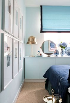 desire to inspire - desiretoinspire.net brass dome lamp, round mirror, moden bedroom