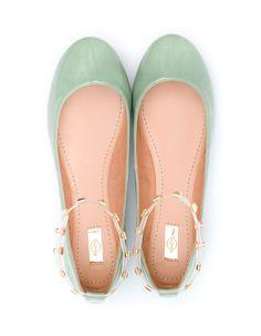 Ballet flats with ankle straps Flache Schuhe, Salbei, Ringe, Kleider, Flache  Sandalen a234f7ccfe