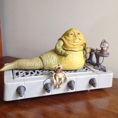 """The classic Jabba the Hutt playset / action figure, with Salacious Crumb mini-figure, from the """"Return of the Jedi"""" line of Star Wars toys"""