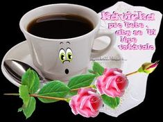 at ImageHosting.cz - Hosting pro tvoje fotky a obrazky Morning Coffee, Coffee Break, Coffee Images, Coffee Cafe, Slogan, Mugs, Night, Tableware, Funny