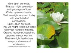 God Open Our Eyes - A Prayer for the Week