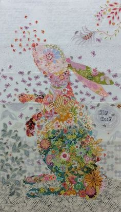 Hip Hop Rabbit Collage Kit by Laura Heine