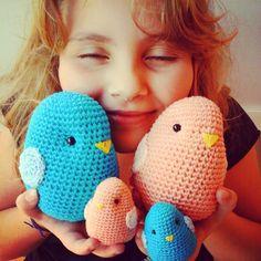 Familia passarinhos de crochê!