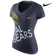 California Golden Bears Nike Women's Up Kilter V-Neck Tee  http://www.calbearsshop.com/cal1011011407.html
