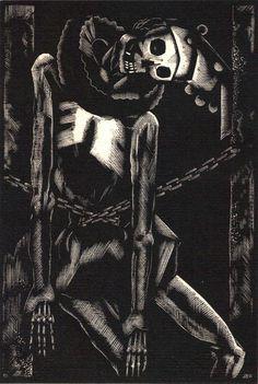John Buckland Wright (1897 – 1954) - The cask of amontillado. 1932. New Zealand.