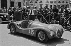 1952 MILLE MIGLIA - Stanguellini S1100. Entrant: u/k. Drivers: Giuseppe Giacobone (I) / Casanova (I). Place: DNF.  (© Revs Digital Library)