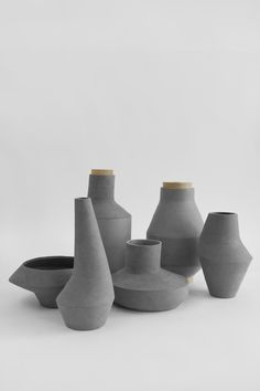 Grey Colors- Moodboard.  Ceramics
