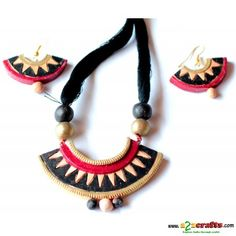 Exclusive Terracotta Jewelry ,Black - Terracotta - Rs. 390 - Hand Made Crafts - Buy & Sell Indian Handmade Crafts and Handmade terracotta, dokra Jewelry and Gifts