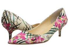 Ivanka Trump Wyle2 Pink Floral - this 2 inch heel is a practical way to wear heels without sacrificing style