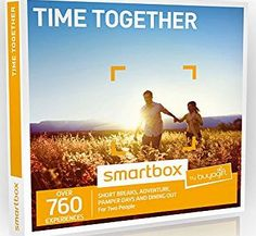 Buyagift Time Together Experience Gift Box - 760 ideal gifts for couples to create special moments together Time Together is the perfect gift for couples offering them the choice of gift experiences to spend quality time together. Beautifully packaged and presented in a glossy (Barcode EAN = 5055876700061) http://www.comparestoreprices.co.uk/december-2016-week-1/buyagift-time-together-experience-gift-box--760-ideal-gifts-for-couples-to-create-special-moments-together.asp