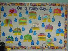 Each umbrella is a booklet. Inside kids write what they would do on rainy day! Complete directions provided.