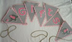 Looking for a banner for a baby shower? Gift Table Elephant Themed Banner by LoveForSparkle on Etsy, $20.00
