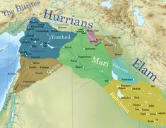 This map shows the political situation in Syro-Mesopotamia c. During this time, the Amorite Kings, Hammurabi of Babylon and Zimri-Lim of Mari were. Ancient Mesopotamia, Ancient Civilizations, Bible Mapping, History Encyclopedia, Ancient Near East, Alexander The Great, Historical Maps, World History, Syria