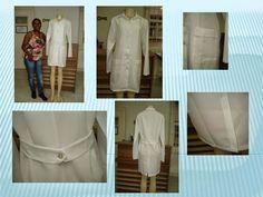 O Jaleco é uma das peças que faz parte do programa do curso de modelagem e costura. Um dos tecidos mais usados é o oxford, quase não amassa é leve e seca rapidamente.