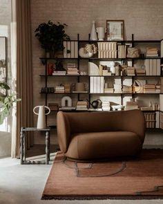 Tendencias en decoración primavera Canapé Design, Nordic Design, Scandinavian Design, Design Ideas, Brown Interior, Nordic Interior, Interior Design, Living Room Decor, Living Room Designs
