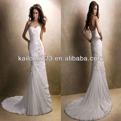Cheap bridal wedding dress, Buy Quality dress wedding lace directly from China wedding dresses train Suppliers: 	Grecian Sweetheart Sheath Court Train Corset Back Asymmetrical Ruched Lace Motifs Chiffon Bridal Wedding Dress	&nb