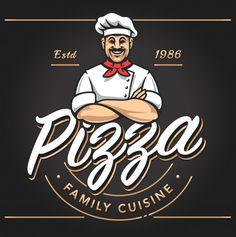 Descarga gratis vectores de Pizzería Emblema Diseño