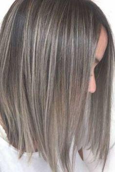 Ash Brown Hair With Highlights, Grey Brown Hair, Brown Bob Hair, Ash Hair, Ash Blonde Hair, Balayage Hair Blonde, Hair Color Highlights, Highlights For Greying Hair, Blonde Brunette