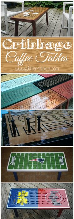 Cribbage Tables Make A Lovely Addition To A Family Room, Living Room, Deck, Porch Or Vacation Home. These Also Make Wonderful Gifts For Cribbage Players