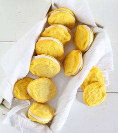 Lemon Sugar Cookie Sandwich Cookies