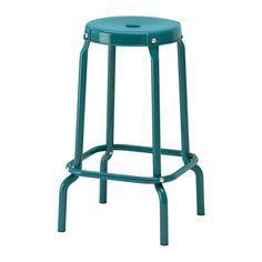 IKEA - RÅSKOG, Tabouret de bar, Ouverture dans l'assise servant de poignée pour faciliter le déplacement.Les pieds en plastique protégent le meuble sur les surfaces humides.Confortable grâce au repose-pieds - 29€