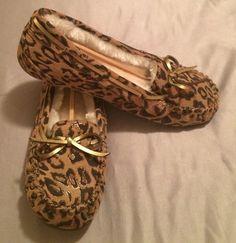 New So Leopard Print Moccasins Size 6 | eBay