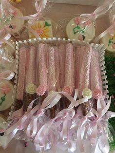 Pink and White Chocolate Covered Pretzels with Chocolate Rose – Just Baked Sweets