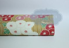 Fabric stripe and flowers Japanese.