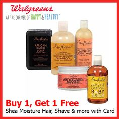 Shea Moisture is having a Buy 1 GET 1 FREE sale at Walgreens until May 30th!