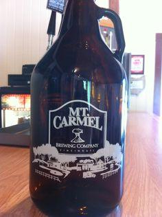 Brand new Mt. Carmel growlers!