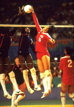 1984 - Women's Volleyball Final China vs USA at the Los Angeles Olympics  China defeated the US in this match at the 1984 Olympics, and China won the gold medal.