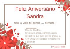 Feliz Aniversário Sandra!