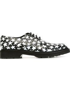 SAINT LAURENT Star Print Derby Shoes. #saintlaurent #shoes #shoes