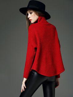 Cute Red Holiday Sweater Fashion! Red Curved Him Winter Sweater #Cute #Red #Holiday #Sweater #Fashion