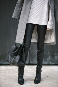 leather & knit