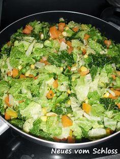 Neues vom Schloss: Gemüsepfanne mit Wirsing