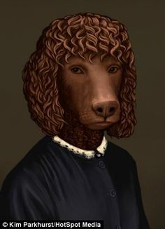 Downton Abbey's Sarah O'Brien, played by Siobhan Finneran, trades places with an Irish water spaniel