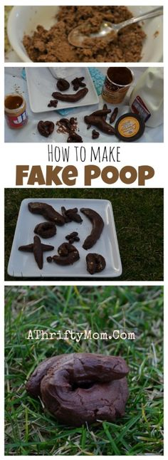 April Fools Prank Ideas, Easy tricks for April Fools gag, Fake Edible Poop, Gross gags or white elephant gift, silly pranks for kids (how to make slime edible) April Fools Pranks, April Fools Day, Camping Pranks, Camping Games, Evil Pranks, Harmless Pranks, Halloween Pranks, Halloween Party, Halloween Quotes
