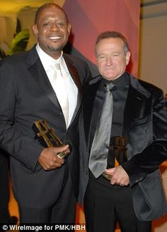 Close knit co-stars: Andy Garcia, pictured left with Robin last year and Forest Whitaker, ...
