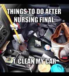 It never got cleaned after the nursing final and even after I got a job. Nurse life is busy life. Nursing Finals, Nursing School Memes, Nursing Career, Nursing Tips, Nursing Notes, Nursing Board, Cardiac Nursing, Funny Nursing, Student Memes